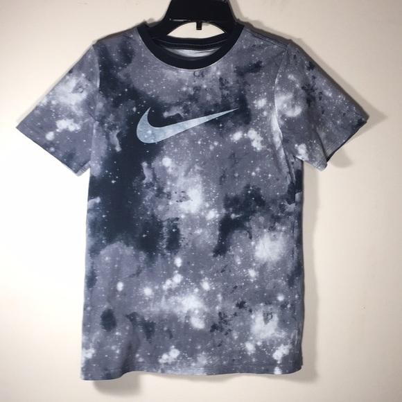 31ff44ae Nike Shirts & Tops | Kids T Shirt Galaxy Gray Black 10 | Poshmark